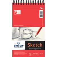 "Canson Foundation Series Spiral Sketch Paper Pad 5.5""X8.5"" NOTM130320"