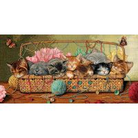 Dimensions Gold Collection Kitty Litter Counted Cross Stitch Kit NOTM330100