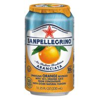 San Pellegrino Sparkling Fruit Beverages, Aranciata (Orange), 11.15 oz Can, 12/Carton NLE43345