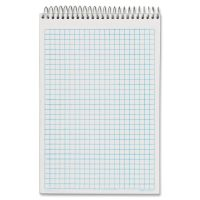 TOPS Docket Gold Spiral Steno Book, Quadrille Rule, 6 x 9, White, 100 Sheets/Pad TOP63825
