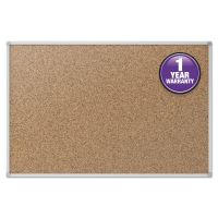 Mead Cork Bulletin Board, 48 x 36, Silver Aluminum Frame MEA85362