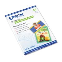 Epson Photo-Quality Self Adhesive Paper, 8-3/8 x 11-3/4, White, 10 Sheets/Pack EPSS041106