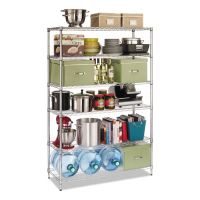 Alera Commercial Wire Shelving, Six-Shelf, 48w x 18d x 72h, Silver ALESW664818SR