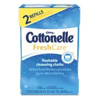Cottonelle Fresh Care Flushable Cleansing Cloths, White, 3.73 x 5.5, 84/Pack KCC35970