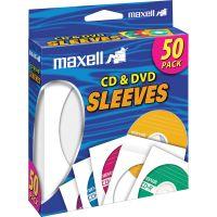 Maxell White CD / DVD Sleeves MAX190135