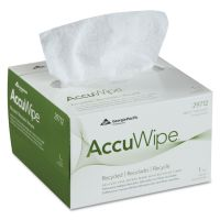 Georgia Pacific Professional AccuWipe Recycled One-Ply Delicate Task Wipers, 4 1/2 x 8 1/4, White, 280/Box GPC29712