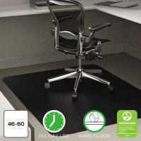 Deflecto Black Hard Floor Chair Mat DEFCM21242BLKCOM
