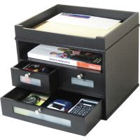 Victor Midnight Black Collection Tidy Tower, 12 4/5 x 10 3/5 x 10 9/10, Wood VCT55005