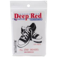 """Deep Red Cling Stamp 2""""X2"""" NOTM064361"""