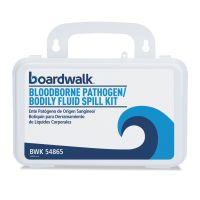 """Boardwalk Bloodborne Pathogen Kit, 30 Pieces, 3"""" x 8"""" x 5"""", White BWK54865"""