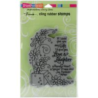 """Stampendous Fran's Cling Stamps 7.75""""X4.5"""" NOTM291311"""