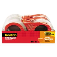 "Scotch Storage Tape, 1.88"" x 38.2yds, 3"" Core, Clear, 4 Rolls/Pack MMM3650S4RD"