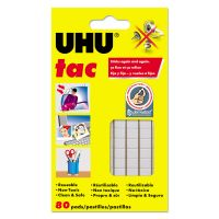 UHU Tac Adhesive Putty, Removable/Reusable, Nontoxic, 2.12 oz, 80 pieces/Pack STD99683