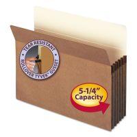 "Smead 5 1/4"" Exp File Pocket, Straight Tab, Letter, Manila/Redrope, 50/Bx SMD73810"