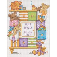 Baby Hugs Baby Drawers Birth Record Counted Cross Stitch Kit NOTM423601