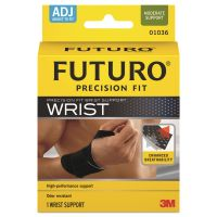 FUTURO Precision Fit Wrist Support, Adjustable, Black MMM01036EN