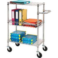 Lorell 3-Tier Rolling Cart LLR84859