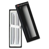 Cross Sheaffer Chrome Barrel Pen/Pencil Set CROE932351