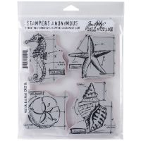 "Tim Holtz Cling Rubber Stamp Set 7""X8.5"" NOTM371573"