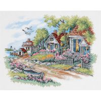 Cottages By The Sea Stamped Cross Stitch Kit NOTM423581