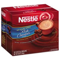 Nestlé No-Sugar-Added Hot Cocoa Mix Envelopes, Rich Chocolate, 0.28 oz Packet, 30/Box NES61411