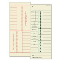 TOPS Time Card for Acroprint/Simplex, Weekly, Two-Sided, 3 1/2 x 9, 500/Box TOP1257