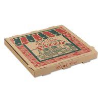 ARVCO Corrugated Pizza Boxes, 10 x 10 x 1 3/4, Kraft, 50/Carton ARV9104314