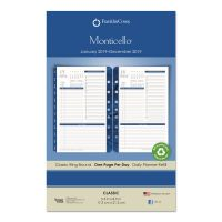 FranklinCovey Monticello Dated One-Page-per-Day Planner Refill, 5 1/2 x 8 1/2, 2019 FDP37063