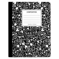 Universal Quad Rule Composition Book., Quadrille Rule, 7.5 x 9.75, 1 Subject, Black, 6/PK UNV20957