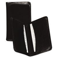 Samsill Regal Leather Business Card Wallet, 25 Card Cap, 2 x 3 1/2 Cards, Black SAM81220