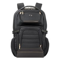 "Solo Pro Backpack, 17.3"", 12 1/4"" x 6 3/4"" x 17 1/2"", Black USLPRO7424"