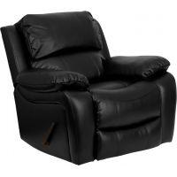 Flash Furniture Black Leather Rocker Recliner [MEN-DA3439-91-BK-GG] FHFMENDA343991BKGG