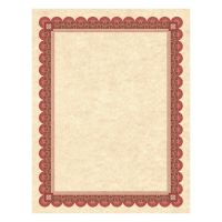 Southworth Parchment Certificates, Copper w/Red & Brown Border, 8 1/2 x 11, 25/Pack SOUCT5R