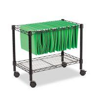 Alera Single-Tier Rolling File Cart, 24w x 14d x 21h, Black ALEFW601424BL