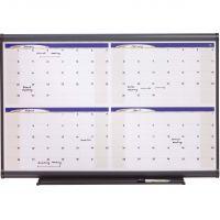 Quartet Prestige Total Erase Monthly Calendar, 36 x 24, Gray Frame QRT4MCP23