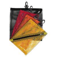 Vaultz Mesh Storage Bags, Assorted Colors, 4/PK IDEVZ01211
