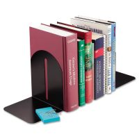 SteelMaster Fashion Bookends, 5 9/10 x 5 x 7, Black, Pair MMF241017104