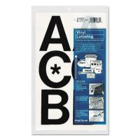 "Chartpak Press-On Vinyl Uppercase Letters, Self Adhesive, Black, 3""h, 50/Pack CHA01070"