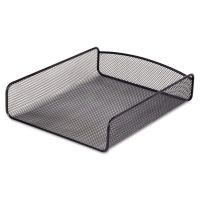 Safco Desk Tray, Single Tier, Steel Mesh, Letter, Black SAF3272BL