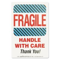 LabelMaster Shipping Self-Adhesive Label, 5 7/8 x 4 1/2, FRAGILE/HANDLE WITH CARE, 500/Roll LMTL76