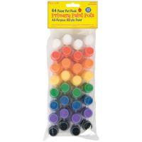 Value Pack Acrylic Paint Pots 64/Pkg NOTM409730