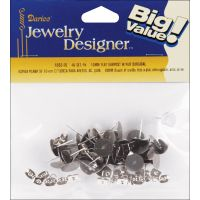Flat Pad Earring Posts & Butterfly Clutches 10mm 30/Pkg NOTM454560