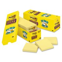 Post-it Notes Super Sticky Canary Yellow Note Pads, 3 x 3, 90-Sheet, 24/Pack MMM65424SSCP