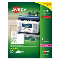 Avery Permanent ID Labels w/TrueBlock Technology, Laser, 2 x 2 5/8, White, 750/Pack AVE6578