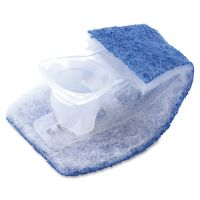 Scotch-Brite Disposable Toilet Scrubber Refill, Blue/White, 6/Pack MMM558RF
