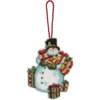 Susan Winget Snowman Ornament Counted Cross Stitch Kit NOTM050939