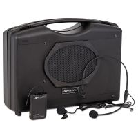 AmpliVox Bluetooth Audio Portable Buddy with Wireless Handsfree Mic, 50W, Black APLSW222A