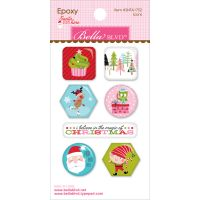 Santa Stops Here Epoxy Stickers NOTM058278