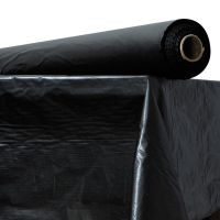 "Plastic Table Cover, 40"" x 300 ft Roll, Black ATL2TCBK300"