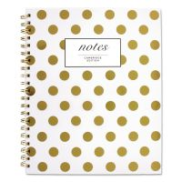 Cambridge Gold Dots Hardcover Notebook, 11 x 8 7/8, 80 Sheets MEA59014